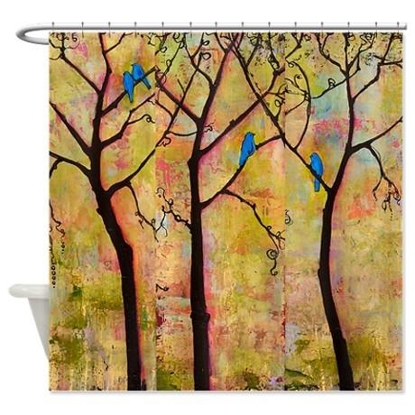 <h5>Blue Bird Shower Curtain</h5><p>Blue Bird Shower Curtain</p>