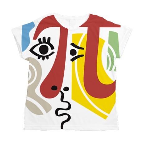 <h5>Pi Symbol Pi Casso T Shirt</h5><p>Pi Symbol Pi-Casso Women&#039;s All Over Print T-Shirt.</p>