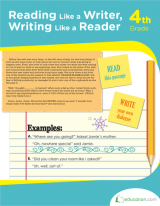 <h5>4th Grade Reading and Writing Workbook</h5><p>This 4th Grade Reading and Writing Workbook is printable. It teaches about every facet of literature. Packed with literary analysis activities.</p>
