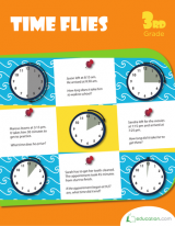 <h5>3rd Grade Time Passage Workbook</h5><p>This 3rd Grade Time Passage Workbook is printable. This workbook teaches about elapsed time, and how to both estimate and calculate how much time has passed between hours.</p>