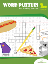 <h5>3rd Grade Spelling Puzzles Workbook</h5><p>This 3rd Grade Spelling Puzzles Workbook is printable. It touches on a mix of subjects from U.S. geography to a bit of science.</p>