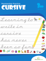 <h5>3rd Grade Cursive Writing Workbook</h5><p>This 3rd Grade Cursive Writing Workbook is printable. This workbook focuses on penmanship practice. In the process, students get a head start on composition by using new handwriting skills to write short stories and paragraphs.</p>