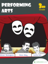 <h5>3rd Grade Performing Arts Workbook</h5><p>This 3rd Grade Performing Arts Workbook is printable. This book offers tons of reading and activities on the performing arts; from traditional theater, to comedy, to clowning!</p>