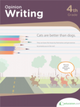 <h5>4th Grade Opinion Writing Workbook</h5><p>This 4th Grade Opinion Writing Workbook is printable. This workbook challenges kids to express their opinions. But more importantly, they&#039;ll learn how to support opinions with good evidence and facts.</p>