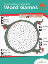 <h5>4th Grade Word Games Workbook</h5><p>This 4th Grade Word Games Workbook is printable. This workbook enhances reading comprehension skills and spelling with a fun collection of word searches covering geology, food, animals and historical figures.</p>