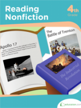 <h5>4th Grade Reading Nonfiction Workbook</h5><p>This 4th Grade Reading Nonfiction Workbook is printable. Explore nonfiction with this set of short and sweet facts on notable people, places and events in history. Young readers can practice taking notes, answering questions and analyzing primary sources.</p>