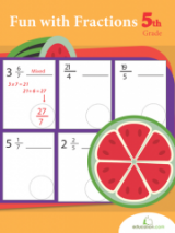 <h5>5th Grade Fractions Workbook</h5><p>This 5th Grade Fractions Workbook is printable. Fractions are a fundamental math skill for 5th graders to master! In this series your child will review adding mixed fractions, and converting improper fractions to mixed ones.</p>