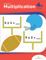 <h5>4th Grade Master Multiplication Workbook</h5><p>This 4th Grade Master Multiplication Workbook is printable. These math worksheets apply multiplication to the real world with interactive games and word problems that address multiplying double-digit numbers, place values and the properties of operations.</p>