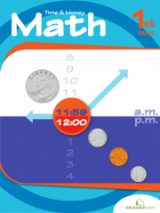 <h5>1st Grade Time and Money Workbook</h5><p>This 1st Grade Time and Money Workbook is printable. For first graders taking on the concepts of time and money, this workbook dives in with clock reading and coin counting practice.</p>
