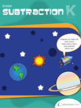 <h5>Kindergarten Subtraction Workbook</h5><p>This Kindergarten Subtraction Workbook is printable. Worksheets with space pictures help to introduce your child to subtraction, encouraging basic math skills and emphasizing the concept of taking away smaller numbers from larger ones.</p>