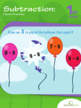 <h5>1st Grade Subtraction Workbook</h5><p>This 1st Grade Subtraction Workbook is printable. This workbook gives first graders lots of practice with subtraction and shows its relationship to addition.</p>