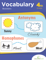 <h5>4th Grade Vocabulary Workbook</h5><p>This 4th Grade Vocabulary Workbook is printable. Squeeze in some extra practice in word analysis, spelling, and punctuation with these engaging grammar worksheets.</p>