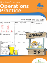 <h5>4th Grade Operations Practice Workbook</h5><p>This 4th Grade Operation Practice Workbook is printable. This workbook is packed with worksheets that let kids sharpen math skills by practicing the four basic math operations as well as factoring.</p>