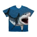 <h5>Great White Shark T Shirt</h5><p>This Great White Shark T Shirt is an all over print t shirt.</p>
