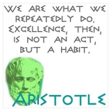 <h5>Aristotle Quote Poster</h5><p>Excellence is a habit.</p>