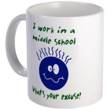 <h5>I Work In Middle School Coffee Mug</h5><p>I Work In Middle School Coffee Mug</p>