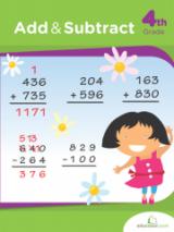 <h5>Add and Subtract Workbook</h5><p>4th Grade Printable Math Workbook</p>