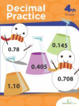 <h5>Decimal Practice Workbook</h5><p>4th Grade Printable Math Workbook</p>