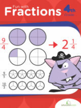 <h5>Fractions Workbook</h5><p>4th Grade Printable Math Workbook</p>