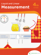 <h5>Liquid and Linear Measurement Workbook</h5><p>4th Grade Printable Math Workbook</p>
