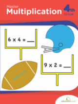 <h5>Master Multiplication Workbook</h5><p>4th Grade Printable Math Workbook</p>