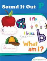 <h5>Sound It Out Pre K Reading Workbook</h5><p>The first step to becoming a great reader and writer is to learn the sounds of all the letters! This workbook encourages your child to say the letters aloud and write them down.</p>