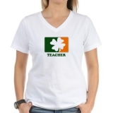 <h5>Irish Teacher V Neck T Shirt</h5>