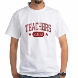 <h5>Teacher Rocks Male T Shirt</h5><p>This teacher&#039;s t shirt Rocks!</p>