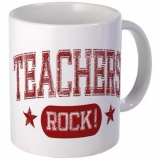 <h5>Teachers Rock Coffee Mug</h5><p>This teacher&#039;s coffee mug Rocks!</p>