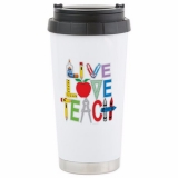 <h5>Live Love Teach Travel Mug</h5><p>Live Love Teach Travel Mug</p>