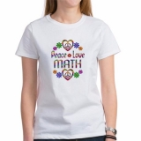 <h5>Peace Love Math T Shirt</h5><p>Peace Love Math T Shirt</p>