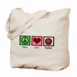 <h5>Peace Love Teachers Tote</h5><p>Peace Love Teachers Tote</p>