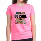 <h5>Color Outside The Lines Pink Tee</h5><p>Color Outside The Lines Pink Tee</p>
