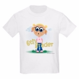 <h5>6th Grade Girl Kids T Shirt</h5><p>6th Grade Girl T Shirt</p>