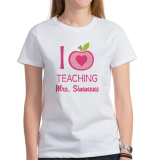 <h5>I Love Teaching Personalized Apple T Shirt</h5><p>I Love Teaching Personalized Apple T Shirt</p>